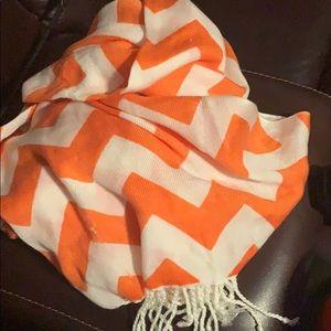 Accessories - Orange and White Scarf